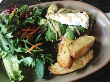 Brie & avocado open sandwich