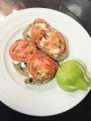 Feta & tomato on light rye