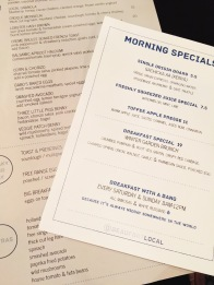 Beaufort Local menu